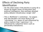effects of declining party identification5