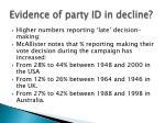 evidence of party id in decline3