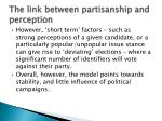 the link between partisanship and perception1