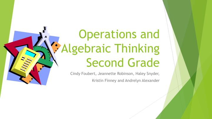 operations and algebraic thinking second grade n.