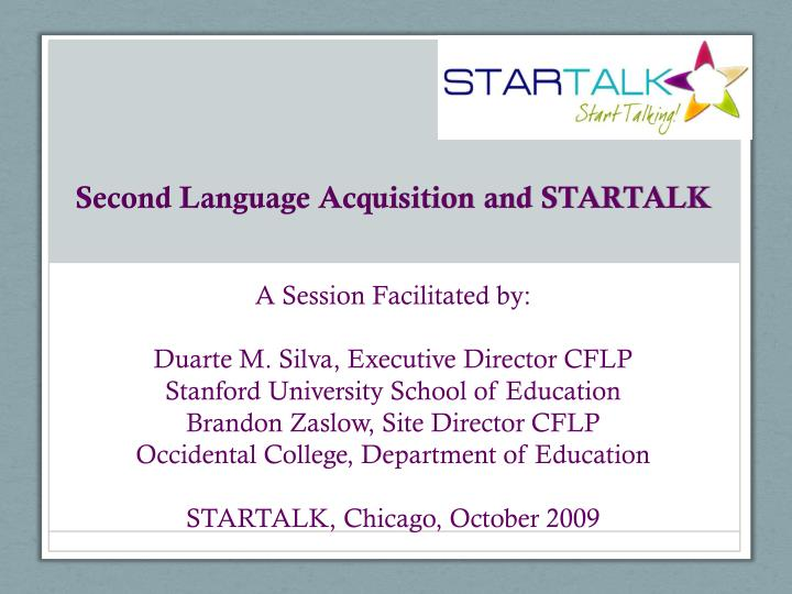 second language acquisition and startalk n.