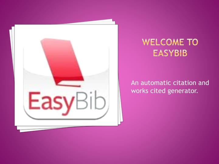 Welcome to easybib