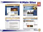 4 main sites