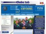 clubs tab