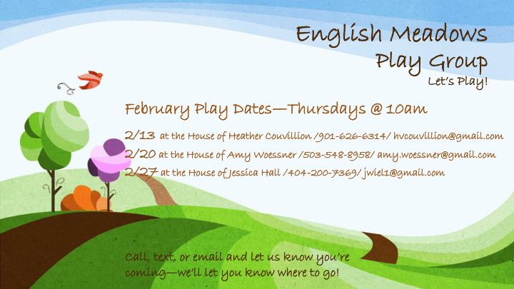 english meadows play group let s play