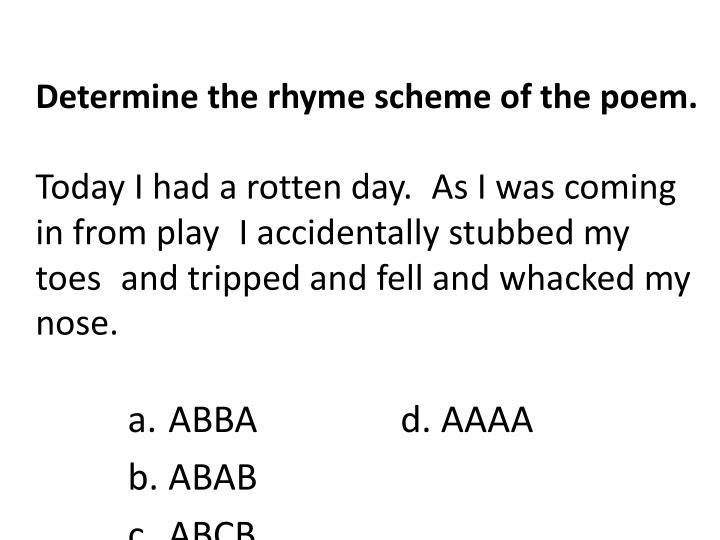 rhyme scheme abcb
