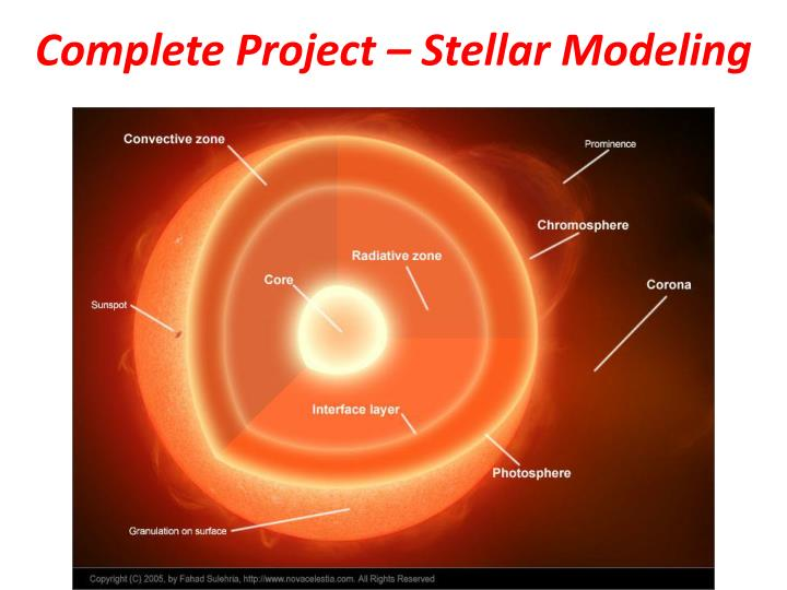 Complete Project – Stellar Modeling
