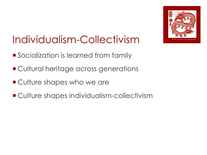 a paper on collectivism and individualism We administered individualism and collectivism scale, communal orientation scale and an original questionnaire survey collecting data about participants' opinions of cultural diversity, communication problems, and stereotypes in intercultural interactions.