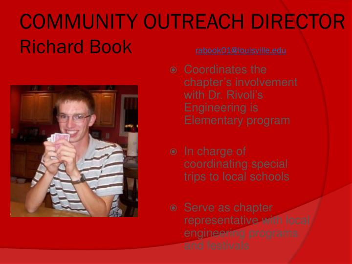 COMMUNITY OUTREACH DIRECTOR