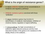 what is the origin of resistance genes