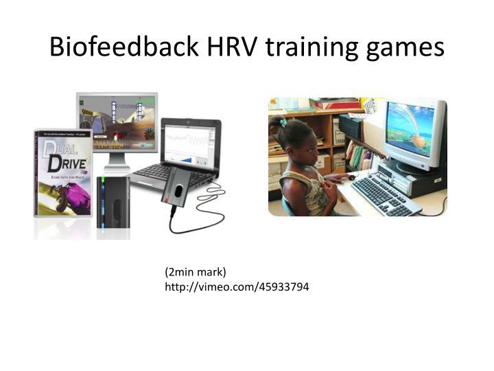 Biofeedback HRV training games