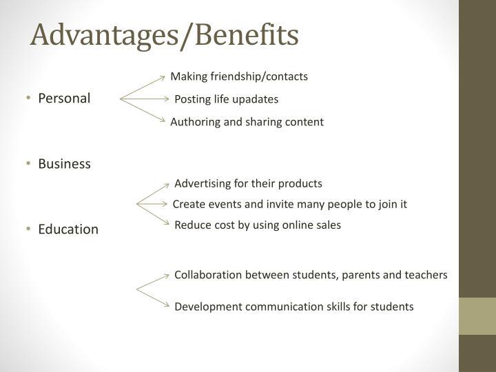 Advantages/Benefits