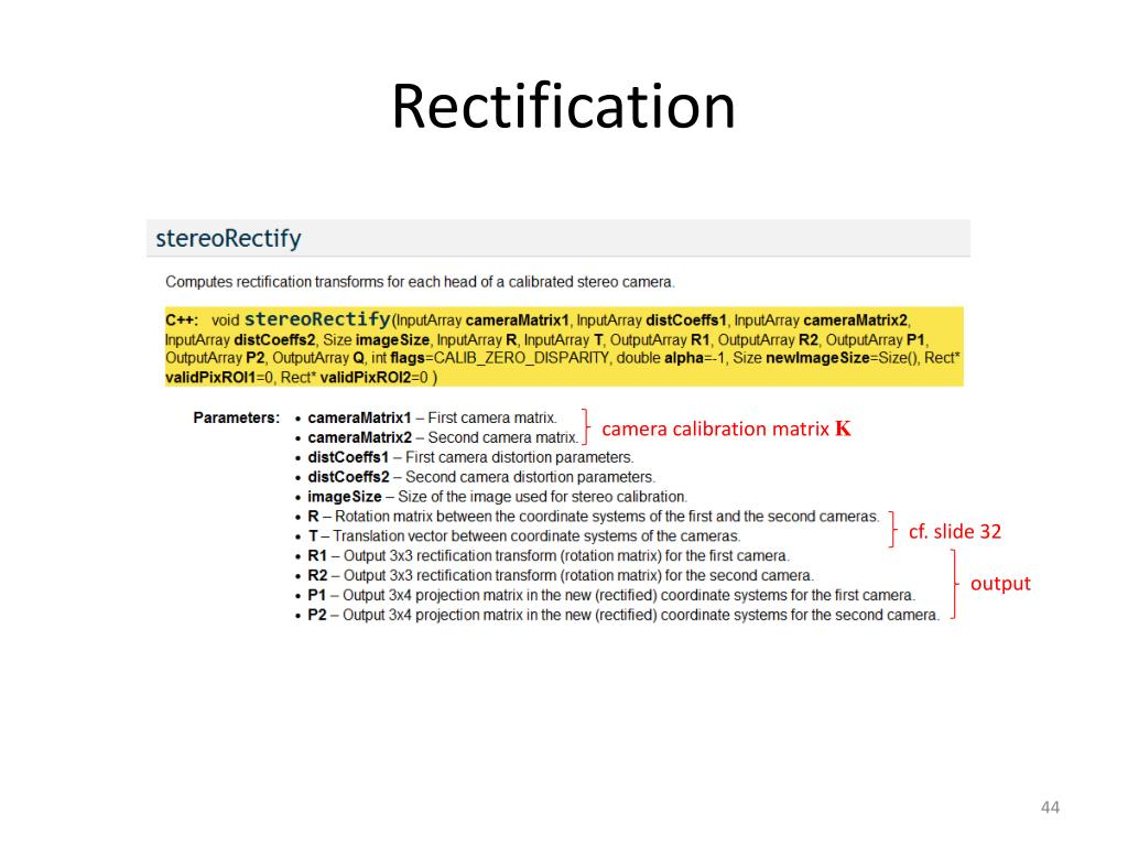 PPT - Tutorial: Calibrated Rectification Using OpenCV