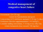 medical management of congestive heart failure1