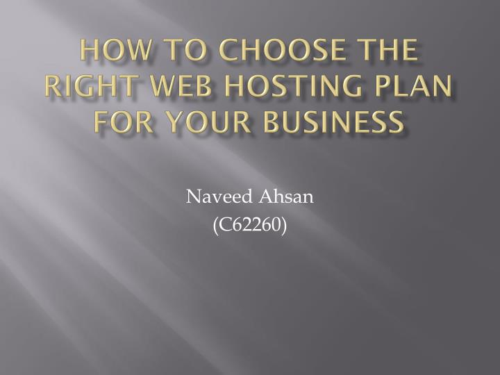 how to choose the right web hosting plan for your business n.