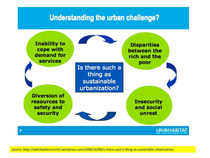 Source: http://switchwatersummit.wordpress.com/2009/10/08/is-there-such-a-thing-as-sustainable-urbanisation/