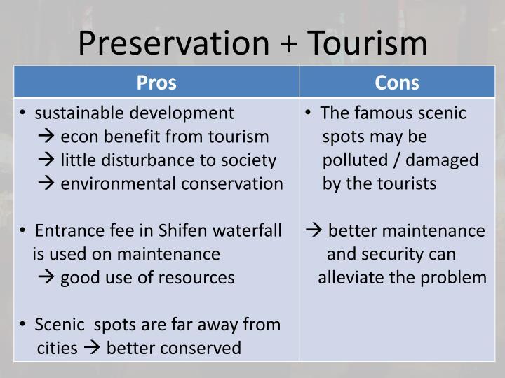 Preservation + Tourism