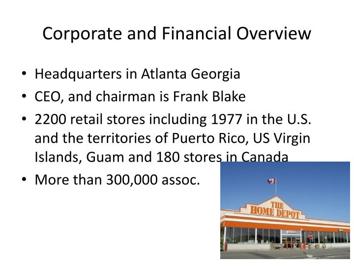Corporate and Financial Overview