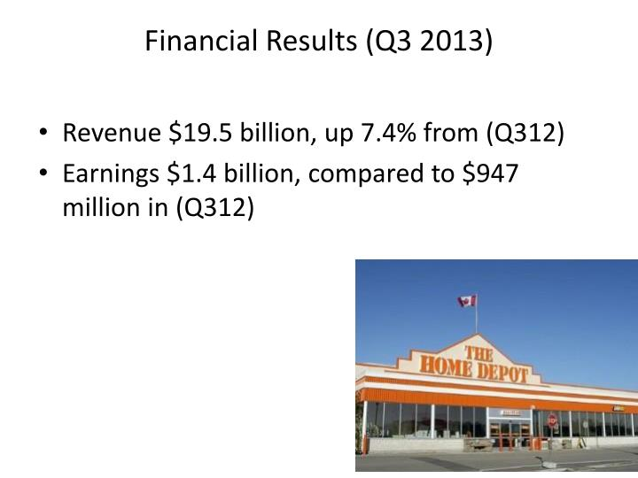 Financial Results (Q3 2013)
