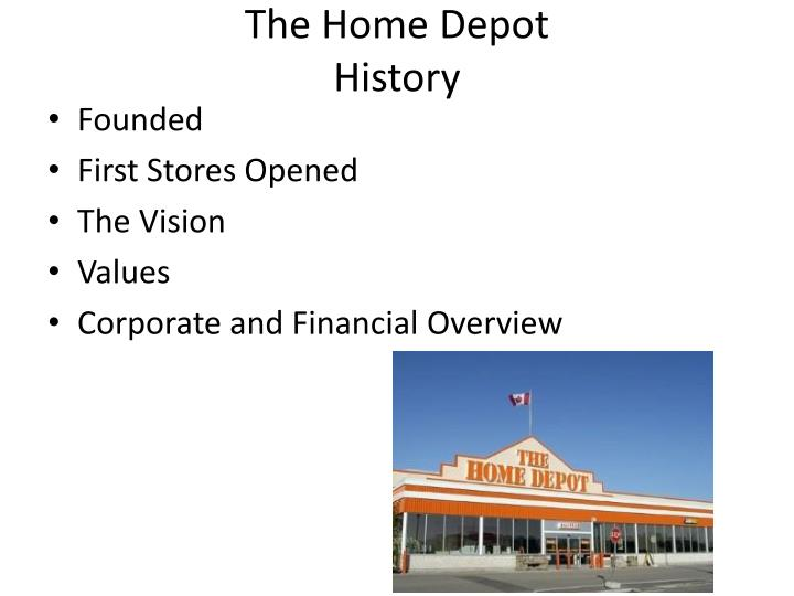 The home depot history