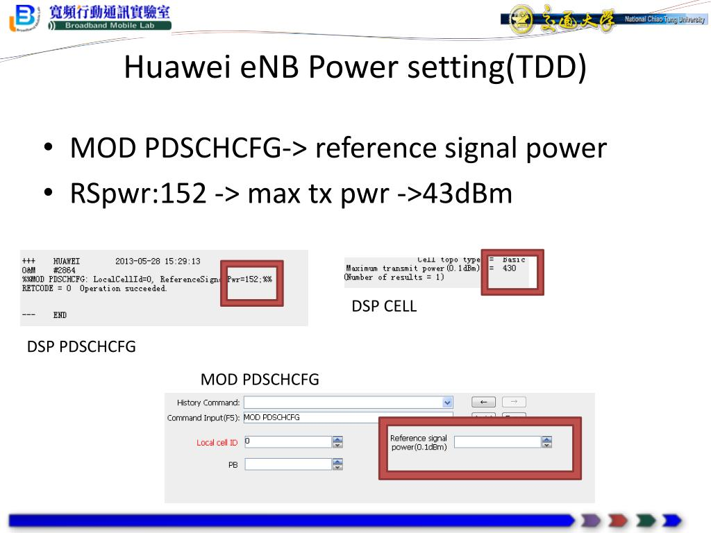 PPT - Configurations of Huawei and NSN eNBs PowerPoint