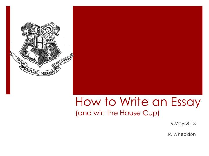 write essay to win house