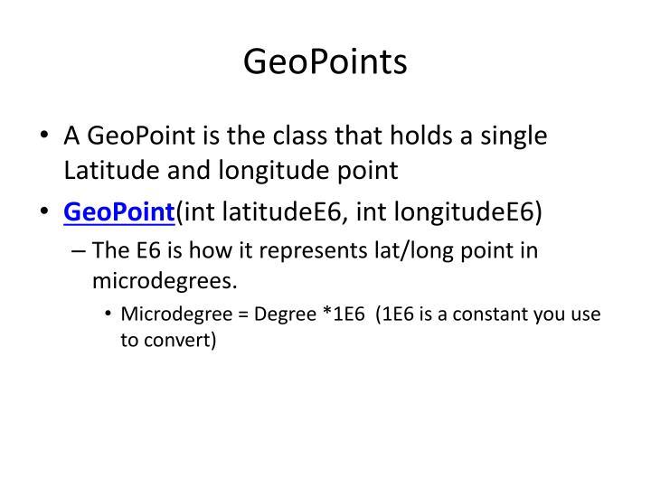 GeoPoints