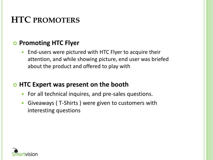 HTC promoters
