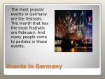 events in germany