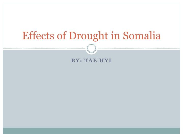effects of drought in somalia n.