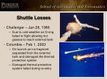 shuttle losses