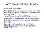 w3c characterization activity