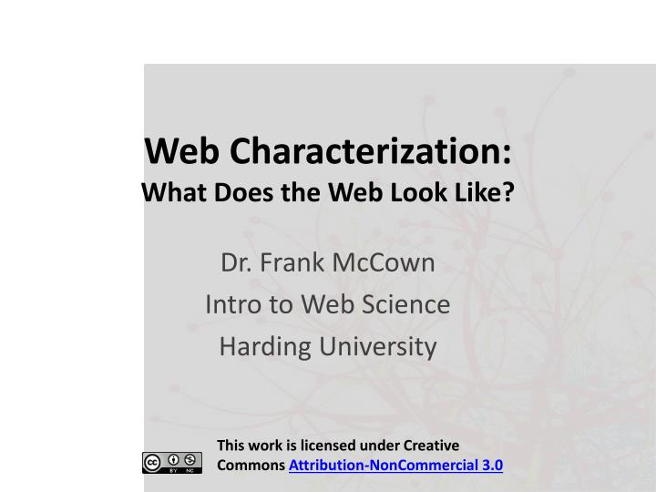web characterization what does the web look like