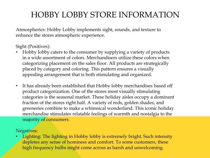 Hobby lobby store information