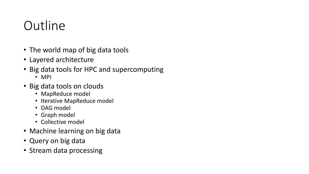 PPT - A Brief Introduction of Existing Big Data Tools