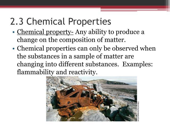 2.3 Chemical Properties