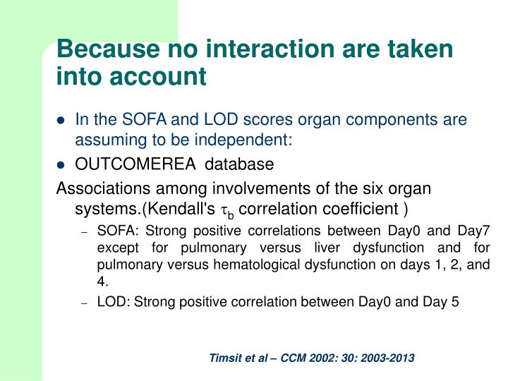 PPT Combining severity scores and organ dysfunction  : because no interaction are taken into account2 n from www.slideserve.com size 720 x 540 jpeg 61kB