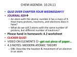 chem agenda 10 24 11
