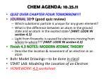 chem agenda 10 25 11