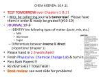 chem agenda 10 4 11