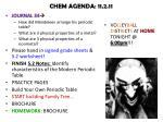 chem agenda 11 2 11