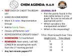 chem agenda 11 4 11