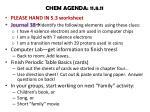 chem agenda 11 8 11
