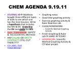 chem agenda 9 19 11