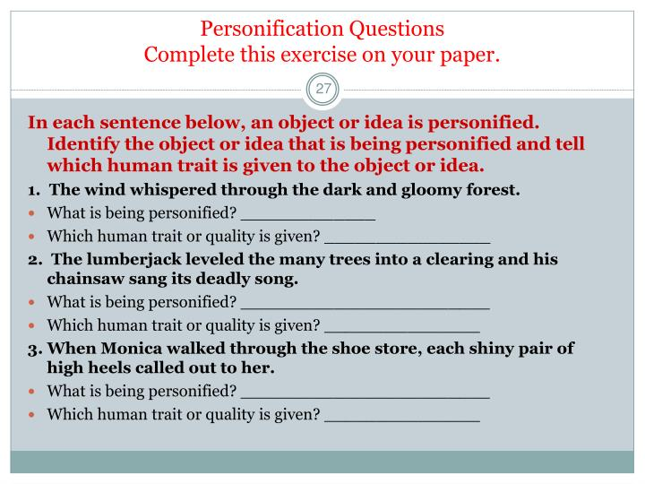 PPT - Figurative Language Part 1 Grade 6 PowerPoint Presentation ...