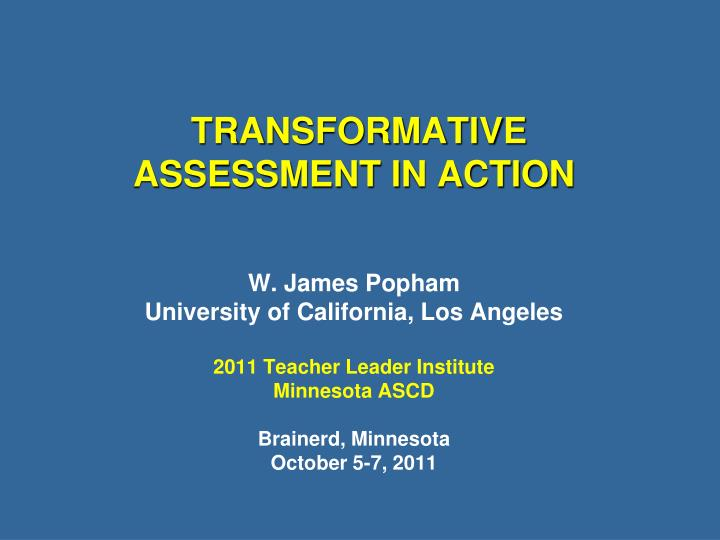 assessment through the student's eyes Assessment for learning encourages student learning instead of monitoring it this is a concept that was.