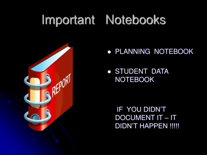 Important   Notebooks