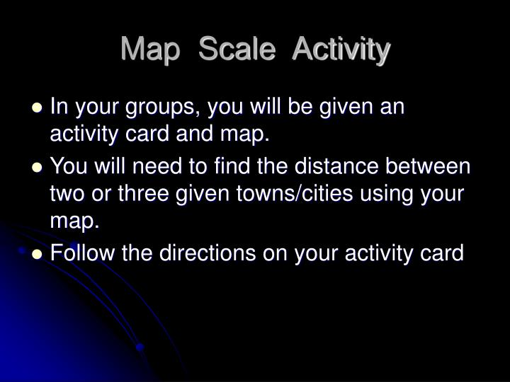 Map  Scale  Activity