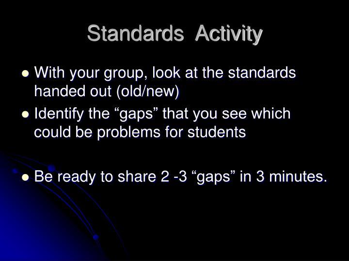 Standards  Activity