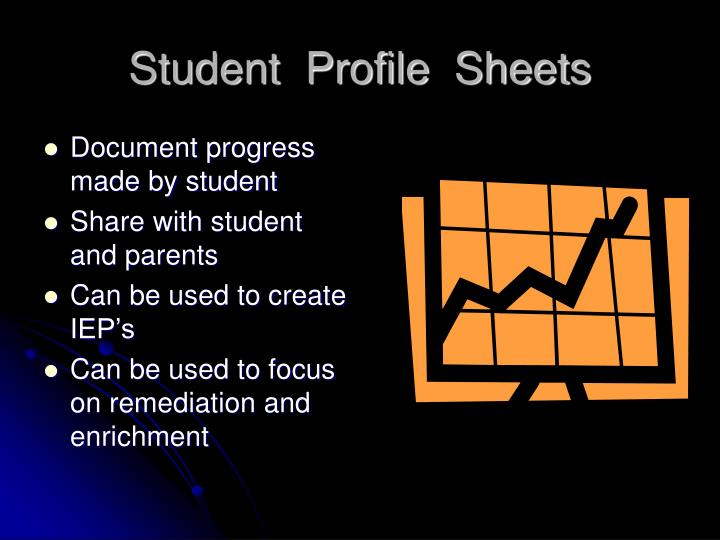 Student  Profile  Sheets